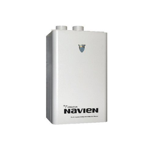 Navien NP-240 Commercial Condensing Tankless Water Heater with Pump and Buffer Tank, Natural Gas